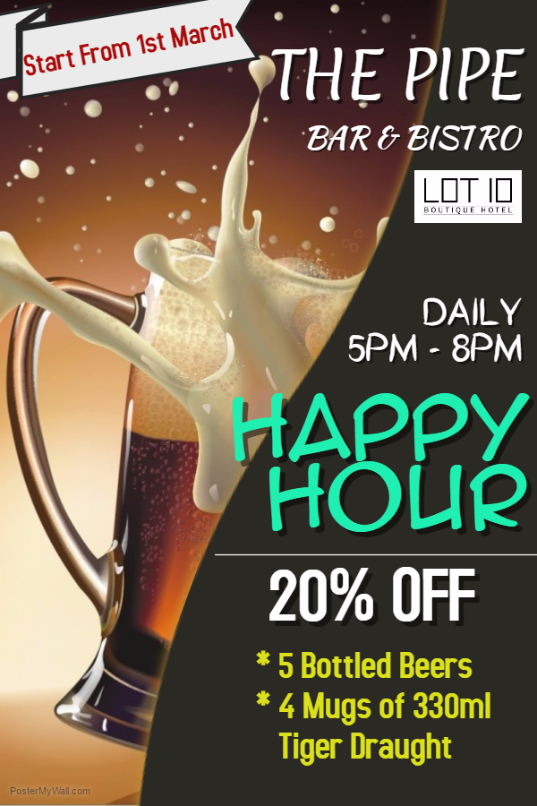 Copy of happy our drinks bar business flyer template (1)
